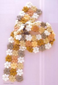 "Crochet scarf pattern using the little ""mollie flowers"""