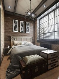 Wood Panel Bedroom