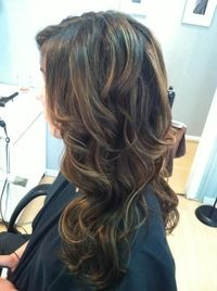 Dark brown with light brown caramel highlights