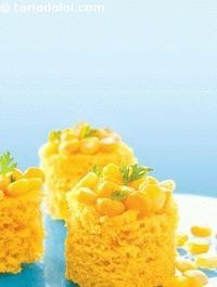 Instant corn dhokla, a rare combo of sweet corn and rawa come together in this sensational dish! it is really amazing how the fresh flavour of the crushed sweet corn kernels enhances the taste of the otherwise bland rawa. A unique set of ingredients blend...