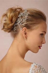I REALLY need help figuring out what to wear in my hair. HALP! Dewed Vines Hairpin in Bride Veils & Headpieces at BHLDN