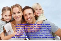 Cute family image with quote