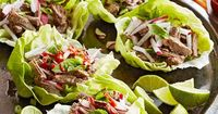 Gluten-Free Pho-Flavor Flank Steak Lettuce Wraps Pho is a Vietnamese noodle bowl that's super hot right now. Here, we've twisted the trend into slow cooker lettuce wraps filled with the hippest of ingredients: pink radishes, pho-style flank steak,...