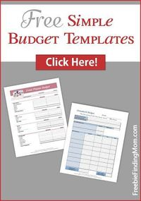 Free Simple Budget Templates + The BEST Family Freebies of the Week!