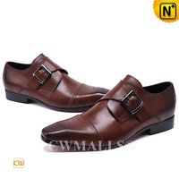 Father's Day Gifts | CWMALLS® Men Leather Monk Strap Shoes CW708123[Patented Product, Custom Made]