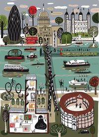 Fun, quirky and eye-catching artwork of the River Thames, part of a new exhibition at the London Transport Museum.