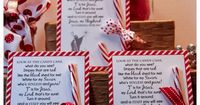 Legend of the Candy Cane Card for Witnessing by DesignsbyLindaNee