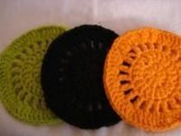 SET OF 3 COTTON TRIVETS (HOTPADS)