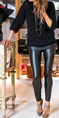 I'll be honest with you guys: leather pants have always stumped me when it comes to styling. When they're worn correctly and paired with the right items, I thin