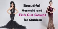 Exclusive Fish Cut Gowns, mermaid birthday party Dress for Baby Girl & Toddler