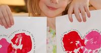 Want to make your own Valentine's Day cards this year? The Idea Room shows you how to make these cute Handprint Valentine's. And Happy Clippings shows you how t