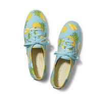 Keds Shoes Womens Champion Pineapples Green