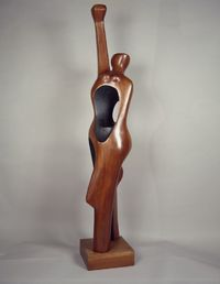 "Elizabeth Catlett (American, 1915�€""2012). Homage to My Young Black Sisters, 1968."