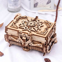 3D Mechanical Treasure Model,Assembling Wooden Gift,DIY Craft Kit,Jewelry Box $65.10