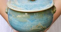 Birds Nest casserole from Lee Wolfe Pottery - last shipment before Christmas