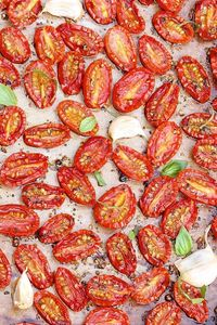 "Slow Roasted Cherry or Grape Tomatoes �€"" possibility the most versatile summer recipe...check out the long list of ways to enjoy these flavor-packed gems"