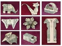 how to make origami using money...for gifts