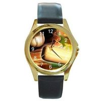 Baseball / Ball and Mitt on a Mens, Boys Gold Tone Watch with Leather Band $32.00