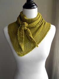 """""""This simple scarf/shawl hybrid was designed with the beginner in mind. No purling required, completely reversible!"""""""