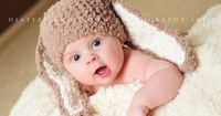 0 to 3 Newborn Baby Hat Bunny Beanie Crochet Brown by BabaMoon, Ordering this for Kendalls newborn pics