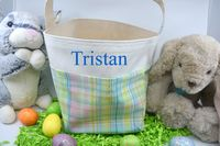Easter Basket - Plaid $18.00