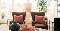 Soft and feminine living room via Lonny Magazine |