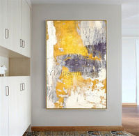 Framed wall art Abstract modern art yellow acrylic Paintings on canvas Original extra Large wall art wall pictures cuadros abstractos $123.75