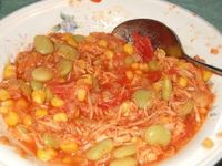I have fond memories of summer parties out in rural Virginia where they made the most amazing Brunswick stew. It was cooked outside on a fire in a big kettle and we'd wait all day for it to be done. This recipe tastes just like it and you can make it ...