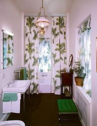 A Tony Duquette bathroom which he installed in the 1960's for Elizabeth Arden at Barretstown Castle outside of Dublin, Ireland.