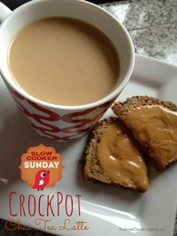 The taste of autumn in a cup! This Crockpot Chai Tea Latte will hit the spot on a crisp day!