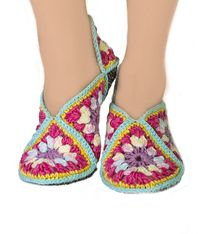 Warm home durable slippers as warm gift for friend, boho slippers socks. Slippers size 7 8 9 $35.00