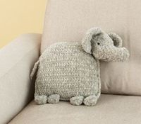 Ellie The Elephant Pillow free pattern. Would make a nice pillow/animal combination for a child to take to daycare for nap.