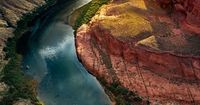 The Bend. The Colorado River and Marble Canyon near Page, Arizona | © Adam Schallau. From his Water In the American West Series.