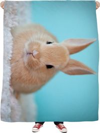 ROFB Bunny Rabbit Fleece Blanket $65.00
