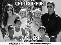 Brangelina child support meme #funny #humor #lol #meme #PMSLweb