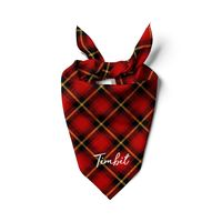 Plaid Dog Scarf Custom Dog Bandana, Personalized Cat Bandanas Pet Scarf Plaid Dog Scarf designer bandana $16.99