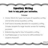 Includes: Anchor Charts for types two types of expository writing and narrative versus expository writing. Draft book & Assembly directions f...