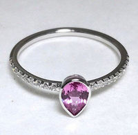 0,47 carat natural pink sapphire diamond and gold ring stackable and solo solitaire < #jewelry #oneofkind #specialorder #customize #honest #integrity #diamond #gold #rings #weddingband #anniversary #finejewelry #salknight