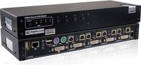 K204E-SH 4 Port DVI-I Dual Link Secure KVM Switch offers impressive levels of communications, even when connecting computers that are on different levels of security clearance. Buy K204E-SH 4 from KVMSwitchTech.com