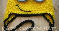 Newborn to Adult Crochet Despicable Me Minion Hat Made to Order. $24.99, via Etsy.