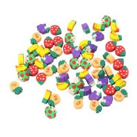 50 x Fruit & Vegetable Erasers - Novelty Correction Supplies. Children's Craft Stationery. Ideal for Party Bags and School Pencil Case £4.09