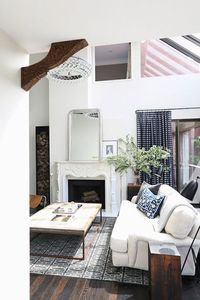Ooh, love the black stripe curtains. Maybe a variation since I already have black sofas.