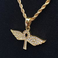Gold Ankh with Wings Pendant £3.99