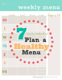 FREE PRINTABLE MENU PLANNER The secret to success with a healthy diet is planning out each snack and meal, and putting it in writing. This menu planner will be your guide to planning all of your meals and healthy snacks. #menuplanner #freeprintable #healt...
