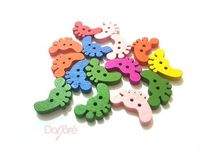 Pack of 50 Wooden Feet Buttons. 20mm x 16mm Foot Shape. Clothes Accessory for Kids. Upholstery, Dressmaker, Sewing, Xmas Craft and Winter £4.99