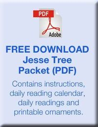 Jesse Tree instructions and Activities for Advent, free printable ornaments, verses, devotions