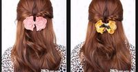 Topsy tail ideas. Ditch the big bow, though.