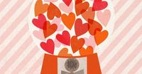 Happy Valentines Day! ©Clare Owen CO161 i2iArt : Gumball Love : Illustration by Clare Owen .