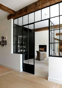 In love with the industrial style window wall