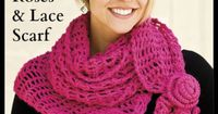 Free Roses & Lace Scarf Crochet Pattern -- Download this free crochet scarf pattern from Freepatterns.com.